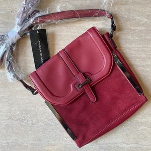 NWT French Connection Suede Crossbody